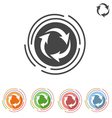 arrows in a circle process icon vector image vector image
