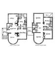 asbury floor plans three story queen vintage vector image vector image