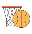 Basketball hoop sport basket vector image