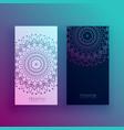 beautiful mandala card design templates vector image vector image