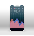 blue pink economy ui ux gui screen for mobile vector image vector image
