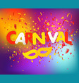 brazilian traditional carnival concept festive vector image vector image