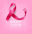 breast cancer ribbon image vector image