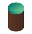 cacao powder box icon isometric style vector image