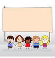 Children holding board vector image vector image