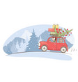 christmas holiday winter vacations vector image vector image