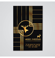 Christmas Invitation Card - Art Deco Style vector image vector image
