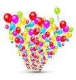 Colorful Balloons Set Isolated on White Background vector image vector image