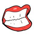 Comic cartoon grinning mouth