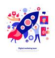 digital marketing team vector image vector image