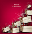elegance background with christmas gifts vector image