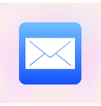envelope app icon Eps10 vector image