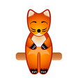 fox toy vector image vector image