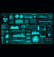 futuristic user interface set hud future vector image