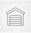 garage icon sign symbol vector image