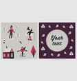 greeting card with different characters elements vector image vector image