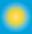 halftone sun design element circle of yellow dots vector image