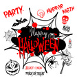Halloween party Happy Halloween message design vector image vector image