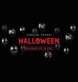 halloween sale design banner vector image