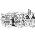 how to write your own profitable ebook vector image vector image