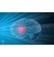 Human brain with blue background vector image vector image
