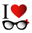 I love fashion eye wear vector image vector image