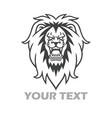 lion roar logo vector image