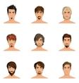 Man Hair Style Set vector image vector image