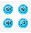Media player glossy buttons collection vector image vector image
