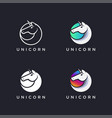 modern unicorn logo icon set vector image
