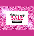 mothers day sale promotion template vector image