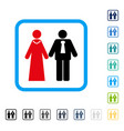newlyweds framed icon vector image vector image