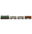 Old electric train vector image vector image