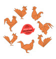 Origami roosters collection