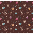 pattern with muffins vector image vector image