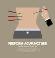 Perform Acupuncture Graphic vector image vector image