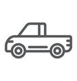 pickup line icon van and auto car sign vector image vector image
