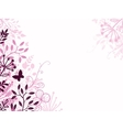 Pink and black floral background backdrop vector image