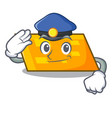 police parallelogram character cartoon style vector image
