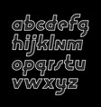 retro old italic lower case alphabet letters for vector image