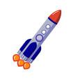 rocket flight into space astronomical vector image