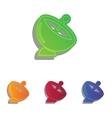 Satellite dish sign Colorfull applique icons set vector image