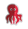 Sea octopus cartoon vector image vector image