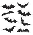 set hand drawing halloween bats stock vector image vector image
