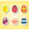 Set of color icons with Easter eggs