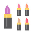 set of makeup items vector image