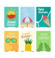 set of summer poster design vector image