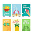 set summer poster design vector image vector image