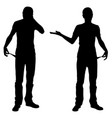 silhouettes of bankrupt men vector image vector image