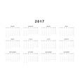 Simple modern calendar 2017 in Spanish vector image vector image